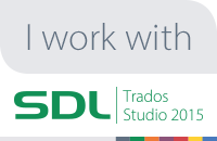I'm using SDL Trados Studio 2015